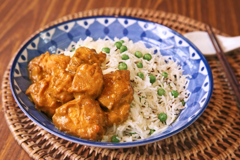 Chicken Satay on Cumin Rice