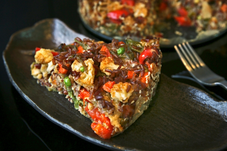 Savoury Brown Rice Cake