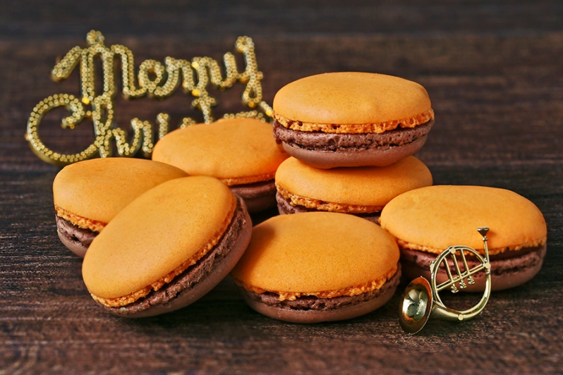 Orange Chocolate Macaroons