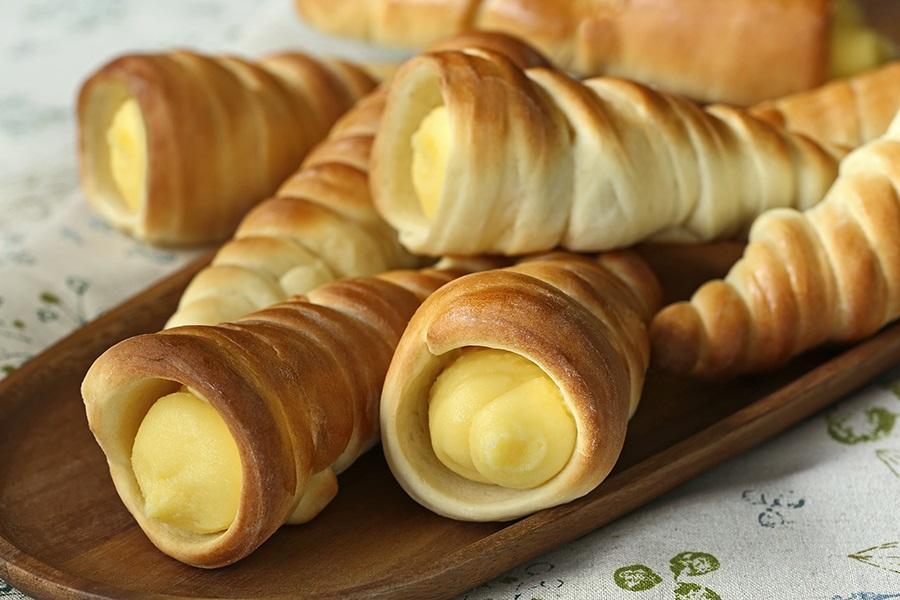 Image result for custard horns bread