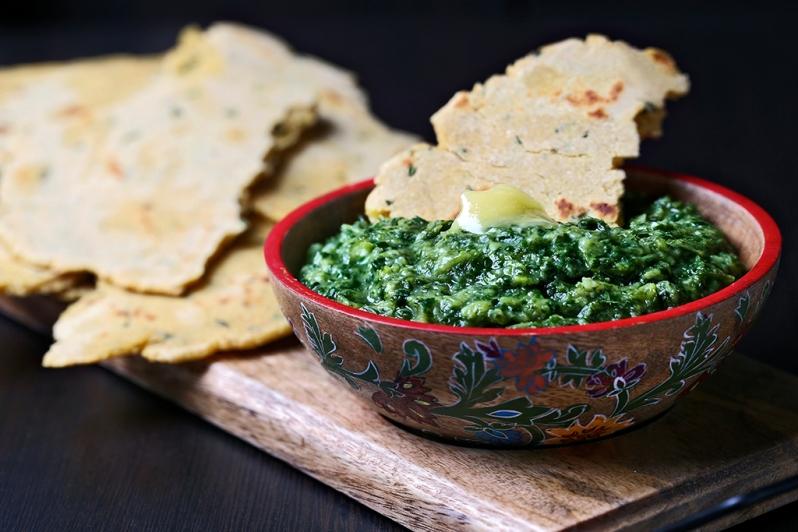 Makki Ki Roti & Vegetable