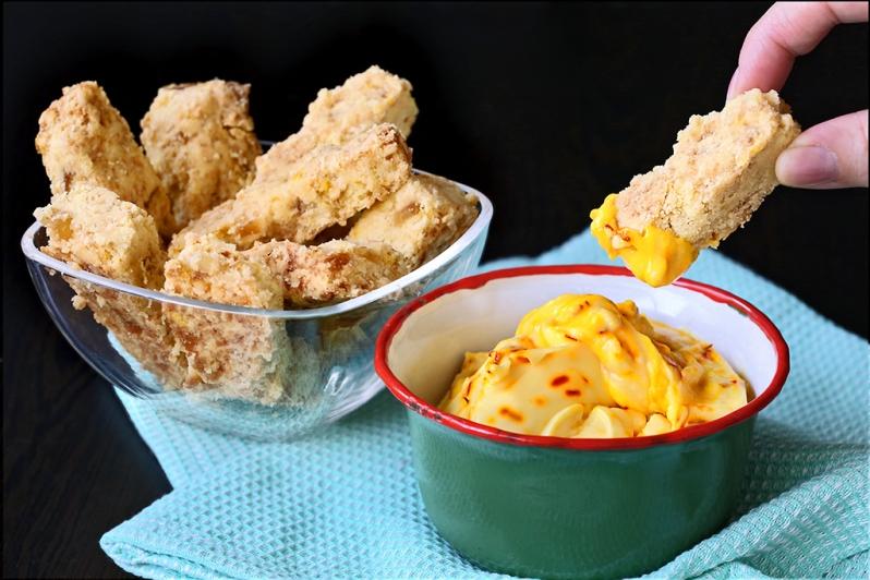 Ginger ShortBread w Saffron Mascarpone Dip
