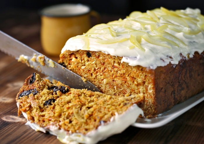 Carrot Cake with Lemon Cream